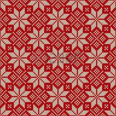 Seamless pattern ornament on the wool knitted texture. EPS available photo