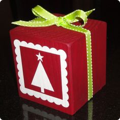 block holiday, block craft, vinyl, block christma, christmas boxes, christma block