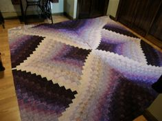 Super Nova - An Eileen Wright Twist and Turn Bargello pattern - This on in my fav color...Purple!!! Beautiful!!