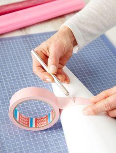 Schultüte: Malerband einschneiden