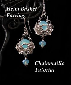 Chainmaille Tutorial for Helm Basket Earrings PDF Instructions Only via Etsy