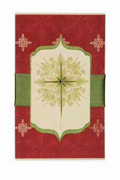 Mindscape Star Card ~ Simplicity and elegance shine through with a traditional star motif and rich colors.