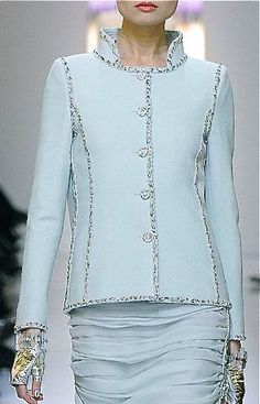 Chanel pale blue With Chanel my eyes are so often immediately drawn to hands - Chanel Clothes - Trending Chanel Clothes - Chanel pale blue With Chanel my eyes are so often immediately drawn to hands and wrists. Chanel does it so well. Chanel Fashion, Couture Fashion, Runway Fashion, High Fashion, Womens Fashion, Luxury Fashion, Chanel Couture, Chanel Chanel, Chanel Runway