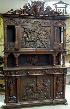 Мебель деревянная резная.