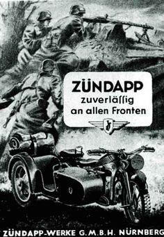 Zundapp WW2, propaganda poster