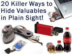 20 Killer Ways To Hide Valuables in Plain Sight!