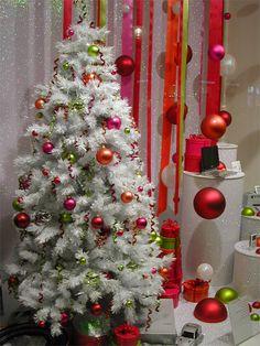 Bright christmas tree decorating
