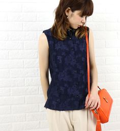 Juenu(ジュエーヌ) レーヨン ポリエステル ナイロン ノースリーブ シャツ・42453W  #Juenu Blouse, Blouses, Woman Shirt, Hoodie, Top