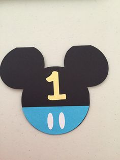 Baby Mickey Mouse Birthday Invitations Set by AuntSheasPaperCrafts