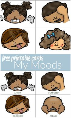 Looking for ways to help your autistic child identify moods and feelings? Emotions Preschool, Teaching Emotions, Emotions Activities, Free Preschool, Preschool Classroom, Preschool Activities, Emotions Cards, Feelings And Emotions, Feelings Chart