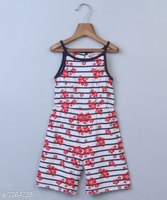 Checkout this latest Dungarees & Jumpsuits Product Name: *Beebay Girls Red Floral Stripe Print Jumpsuit (Red)* Fabric: Cotton Sleeve Length: Sleeveless Pattern: Printed Multipack: 1 Sizes:  0-3 Months (Bust Size: 19 in, Length Size: 2 in, Waist Size: 17 in)  3-6 Months (Bust Size: 19 in, Length Size: 2 in, Waist Size: 17 in)  6-9 Months (Bust Size: 20 in, Length Size: 2 in, Waist Size: 18 in)  9-12 Months (Bust Size: 20 in, Length Size: 2 in, Waist Size: 20 in)  4-5 Years (Bust Size: 22 in, Length Size: 3 in, Waist Size: 22 in)  Country of Origin: India Easy Returns Available In Case Of Any Issue   Catalog Rating: ★4 (233)  Catalog Name: Cute Trendy Kids Girls Dungarees & Jumpsuits CatalogID_1161529 C62-SC1156 Code: 074-7264725-429