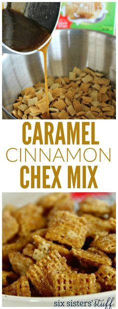 Interesting combination—the sweetness of the caramel and the cinnamon with the savoriness and nuttiness of the Chex Mix. How would that taste?