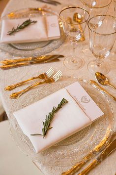 Rosecliff Mansion Wedding in Newport, Place Settings with Clear Chargers