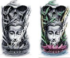 Irezumi Tattoos, Skull Tattoos, Body Art Tattoos, Hand Tattoos, Tatoos, Buddha Tattoo Design, Shiva Tattoo Design, Japanese Tattoo Designs, Japanese Sleeve Tattoos
