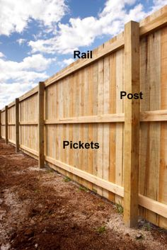 Wood Privacy Fence, Privacy Fence Designs, Backyard Privacy, Pallet Fence, Diy Fence, Backyard Fences, Backyard Projects, Outdoor Projects, Backyard Landscaping
