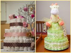 Frugal Baby Shower Gift - How To Make a Diaper Cake For Cheap