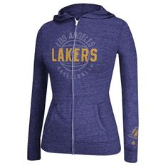 1cb7c0c43 adidas Los Angeles Lakers Ladies Courtside Full Zip Hoodie Adidas Los  Angeles