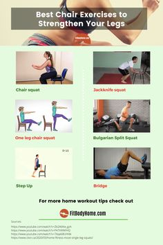 Fun Workouts, At Home Workouts, Bulgarian Split Squats, Chair Exercises, Fitness Tips, Strong, Legs, Fitness Hacks, Home Workouts