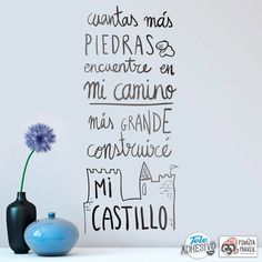 Vinilos Infantiles: Construiré mi Castillo #pedrita #parker #vinilo #decoracion #pared