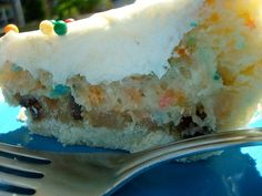 Cookie Cake Pie - What happens when you take a pie crust, fill it with cookie dough, pour cake batter over that, then top the whole thing with buttercream frosting and sprinkles? A cookie cake pie happens.