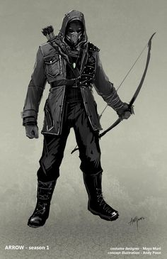 "Merlyn ""The Dark Archer"" Concept Art by Andy Poon."