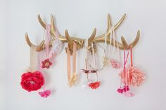 Project Nursery - Antler Hair Accessory Storage - Project Nursery