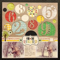 House Number Inspiration (from Ideas for Scrapbookers: Collection Kit Versatility aka Scrapping on a Budget)