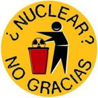 Logo de campaña Greenpeace contra energía nuclear.