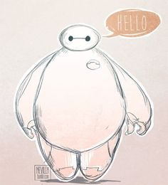 I love Baymax! I can't wait to watch the movie! |19 Pieces Of Fan Art That Prove Baymax Is Your New Fave Character