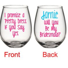 Will You Be My Bridesmaid Wine Glass, Bridesmaid Proposal Wine Glass, Bridesmaid Gifts, Will You Be My Maid Of Honor Wine Glass