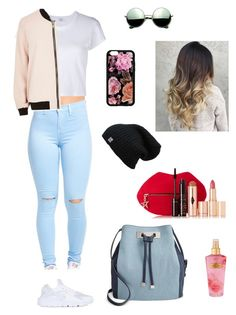 """""""Untitled #27"""" by yordiadenew ❤ liked on Polyvore featuring RE/DONE, River Island, NIKE, Revo, INC International Concepts, Victoria's Secret and Charlotte Tilbury"""