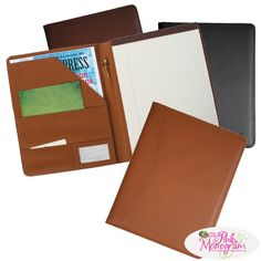 Monogrammed Leather Padfolio for men and women  Office Supplies > Filing & Organization > Report Covers & Portfolios