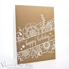 White embossing on craft