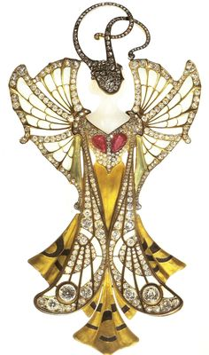 Henri Vever, leader in the blossoming Art Nouveau movement at the turn of the 20th century. History primarily remembers him as a superbly gifted jewellery historian. His jewellery was mainly constructed of gold and precious stones.
