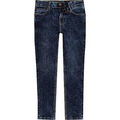 797045524 Boys dark blue acid wash Sid jeans - Skinny Jeans - Jeans - boys Boys Ripped