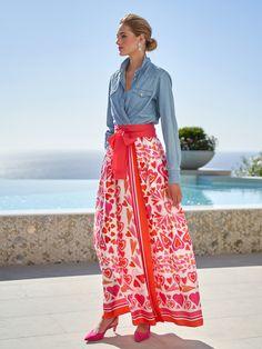 Silk Skirt, Dress Skirt, Look Cool, Cool Style, Mode Ab 50, Gauze Dress, Heart Dress, Spring Dresses, Women's Dresses