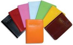 """This Milano Collection passport cover is crafted from scratch and stain resistant Italian leather that matches our Milano cases, totes, handbags, and accessories.  Features      lined with cotton and soft napa leather for added flexibility     made in black, blue, brown, cherry, cream, green, orange, pink, red, and yellow     Dimensions: 4"""" x 5 1/2""""     Metric: 10.1 x 14 cm"""