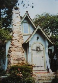 Robins Egg Blue quaint cottage.