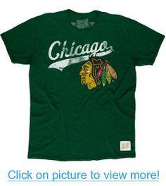 d0e588660 Chicago Blackhawks Short Sleeve Green Tri-Blend Tee by Original Retro Brand