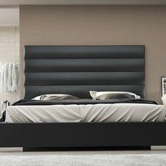 Modloft Gray Prince Platform Bed | AllModern | Slate Leather | Queen | $1444