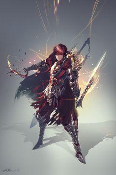 Fantasy swordsman CG