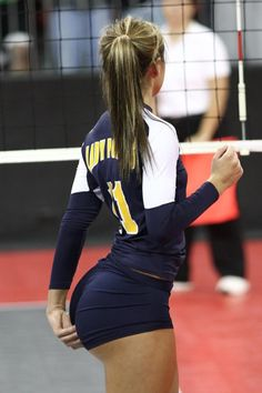 There's nothing quite like the toned butt of a volleyball player. And there's nothing quite like volleyball shorts to show them off. And yes, they ride up. Don't act like you don't like it.