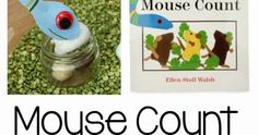 Sensory and fine motor activity for the book Mouse Count by Ellen Stoll Walsh Sensory Bins, Motor Activities, Fine Motor, Counting, The Book, Shapes, Books, Libros, Book