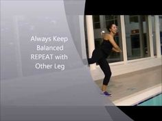 ▶ Aqua Aerobics. Tidal Wave Workout 1 (Teaching on Poolside) - YouTube