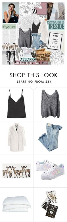 """""""i can't be who he wants me to be"""" by roxymarie ❤ liked on Polyvore featuring KEEP ME, Chanel, Protagonist, Kenzo, AG Adriano Goldschmied, WALL, adidas Originals, Crate and Barrel, Assouline Publishing and Clips"""
