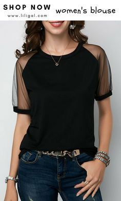 9 best black blouse outfit images in 2019 Jumper Outfit, Black Blouse Outfit, Bluse Outfit, Casual Outfits, Cute Outfits, Moda Casual, Black Women Fashion, 50 Fashion, Fashion Styles
