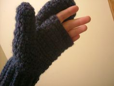 convertible mittens free crochet - great for driving