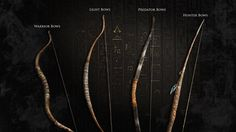 Bows from Assassin's Creed Origins