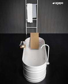 Old Fashioned Bathtub, How To Waterproof Wood, Standing Bath, Bathroom Goals, Bathroom Ideas, Patricia Urquiola, Italian Home, Towel Rail, Minimal Design