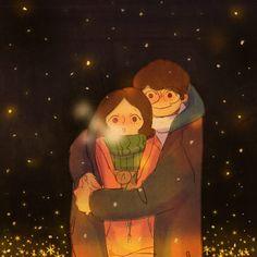 I'm Olaf and I like warm hugs. Love Cartoon Couple, Cute Love Cartoons, Cute Couple Drawings, Cute Couple Art, Couple Illustration, Illustration Art, Puuung Love Is, Cute Love Stories, Love Wallpaper